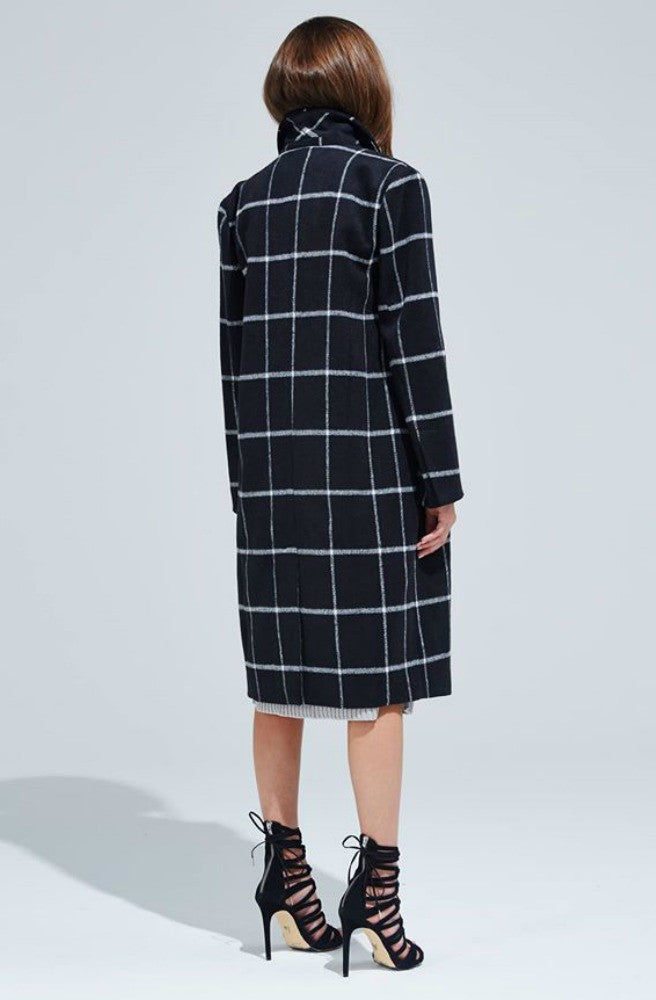 Interchange Coat - Black/White by Bless'ed Are The Meek - Picpoket