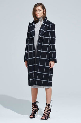Interchange Coat - Black/White
