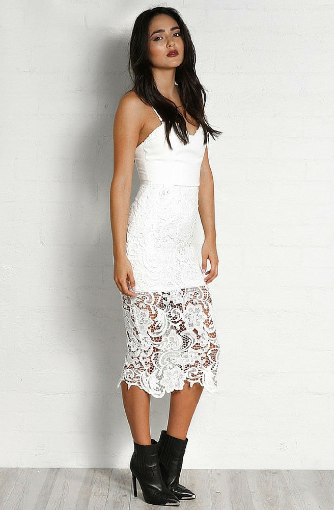 Limelight Lace Dress by Madison Square - Picpoket