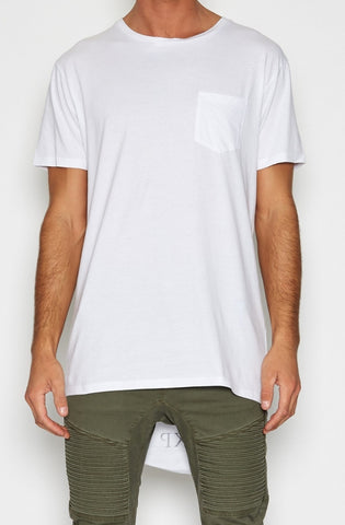 Airwolf Cape Back Pocket T-shirt - White by Nena & Pasadena - Picpoket
