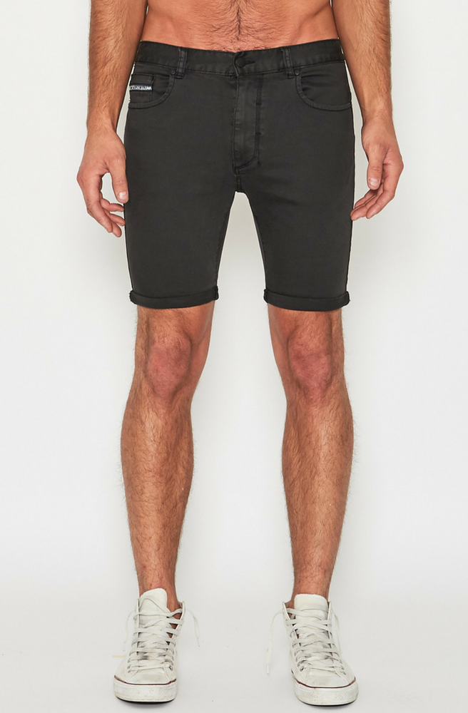 Turn It Up Shorts - Washed Black by Nena & Pasadena - Picpoket