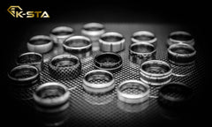 Table full of K-Sta mens wedding rings available in Sydney