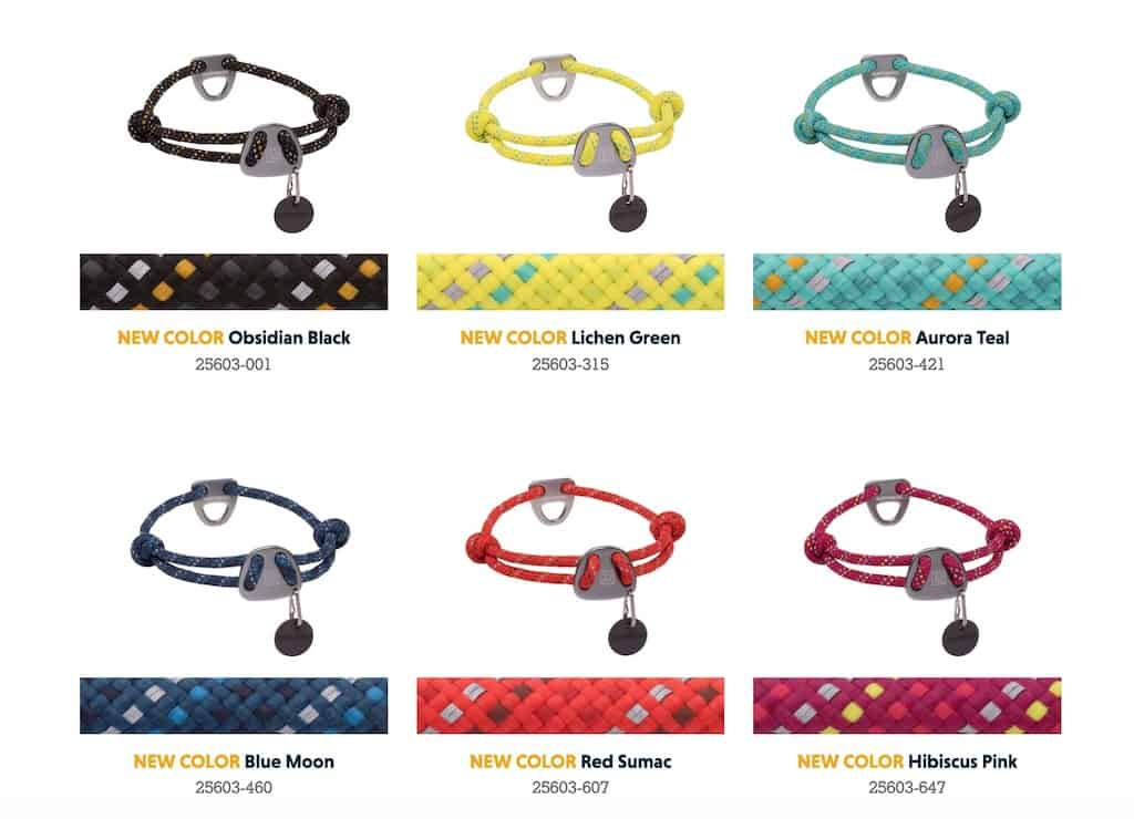 Ruffwear Knot-a-Collar Showing All Colours