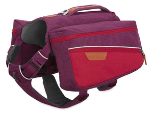 Ruffwear Commuter Dog Backpack in Larkspur Purple Left Side