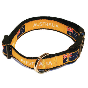 Australia Flag Rugby Dog Collar
