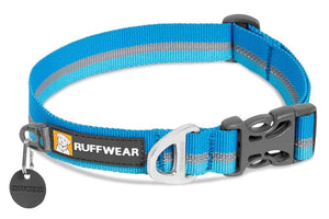 Ruffwear Crag Dog Collar in Blue Dusk with reflective trim