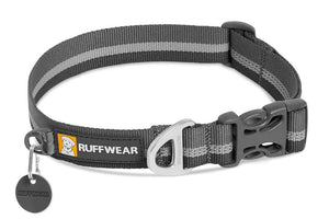 Ruffwear Crag Dog Collar in Granite Grey with reflective trim