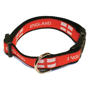 England Flag Rugby Dog Collar