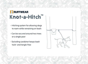 Knot-a-Hitch by Ruffwear Product Card highlighting uses