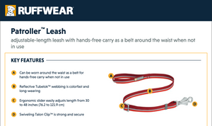 NEW! Patroller Leash - Compact Dog Lead
