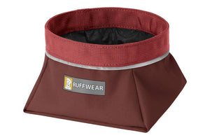 Ruffwear Quencher Dog Bowl in Fired Brick Red