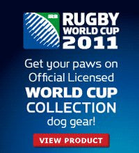 Rugby World Cup 2011 Logo Dog Collar