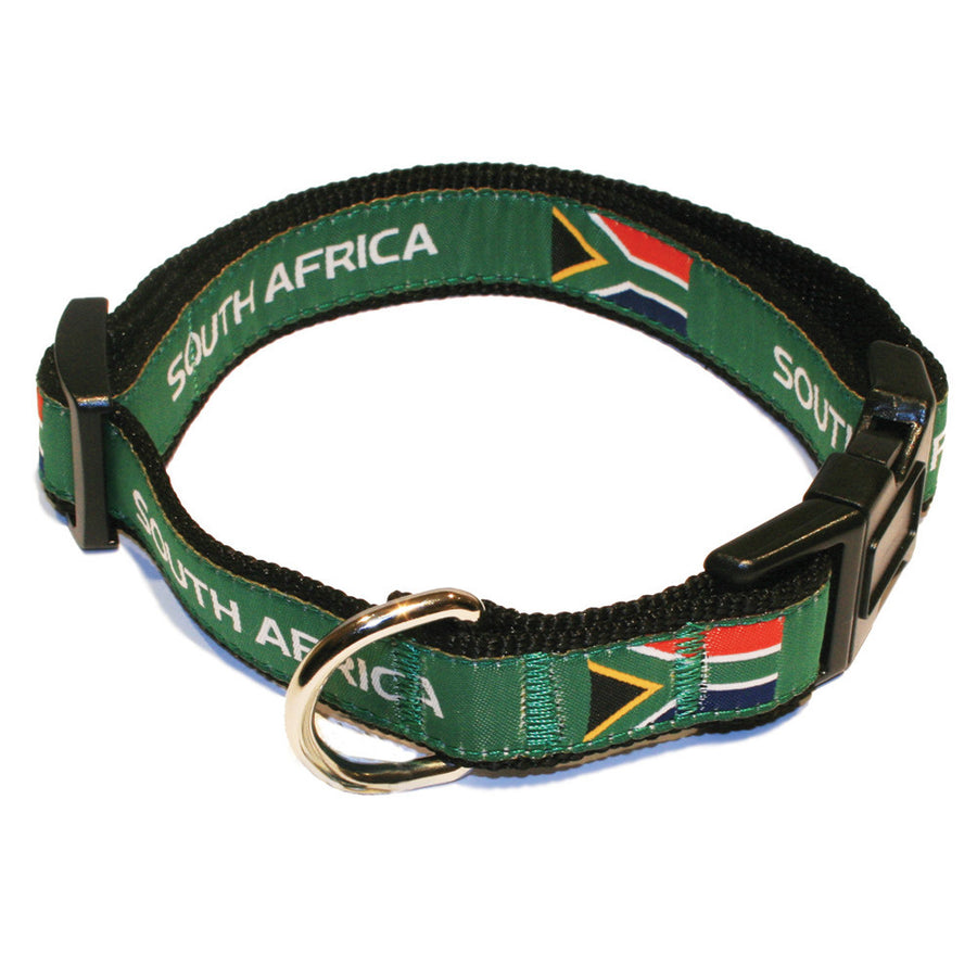 South Africa Rugby Dog Collar