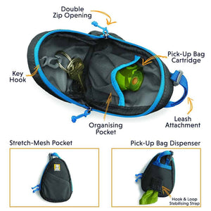 Stash Bag - Pick-up Bag Dispenser, Handy Storage for Keys, etc
