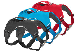 Ruffwear Web Master Harnesses - Showing All Three Colours