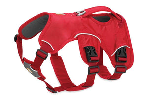 Ruffwear Web Master Harness in Red Left Hand Side