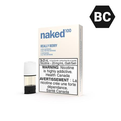 STLTH POD PACK NAKED100 REALLY BERRY (3 PACK) [BC]