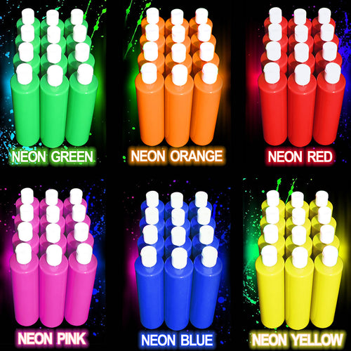 Colour Me Neon Party Paint 473ml (16oz) x 12 bottles of the same colour