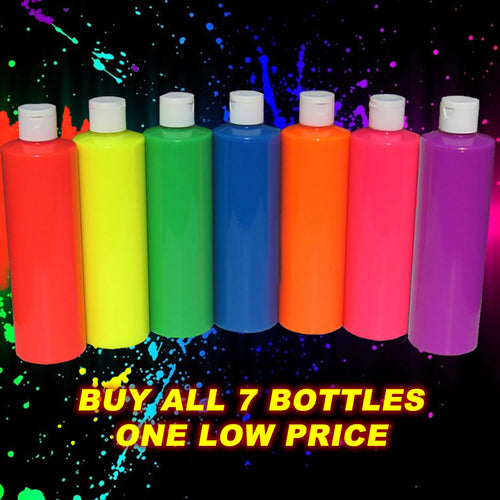 Neon Party Paint Rainbow Pack 7 Colours