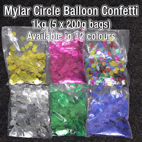 Mylar Circle Balloon 1kg (5 x 200g bags)