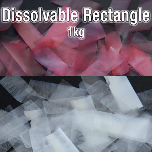 Dissolvable Rectangle Confetti (1kg)