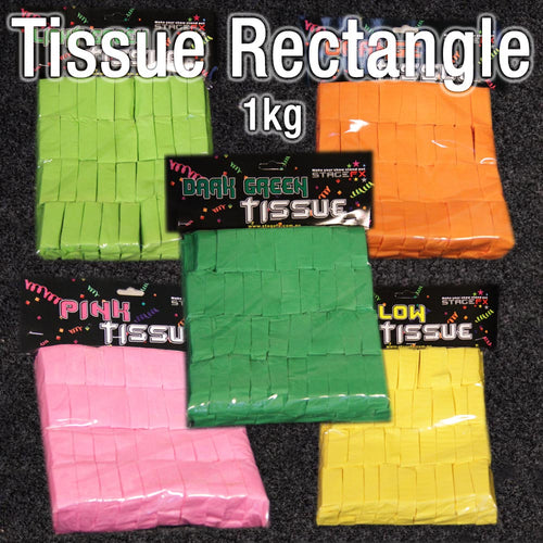Tissue Paper Rectangle Confetti (1kg)