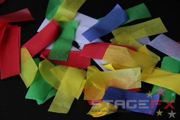 Confetti Rectangle Paper 1kg Stage Fx