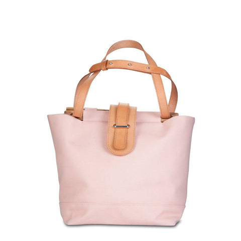 Mini Tote Bag Canvas with Skinny Flap