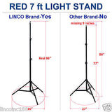 Lincostore 600 Watt Photo Studio Umbrella Continuous Triple Lighting Kit