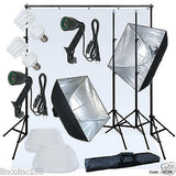 Linco Lincstore Complete Studio Lighting Backdrop Stand Background Light Kit