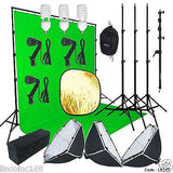 10x13ft Chromakey Green Screen Studio Lighting Kit W/ Backdrop Stand Light