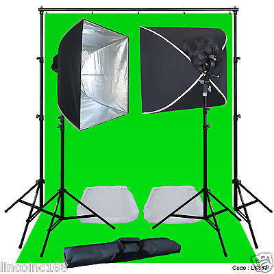 Linco Lincostore Complete Studio Lighting Backdrop Stand Photo Light Kit