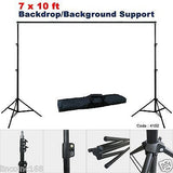 5'x10' Green Photography Backdrop Photo Stand Muslin Kit