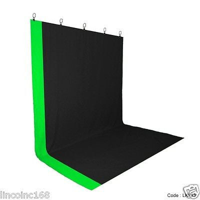 Chromakey Green Screen Muslin Backdrop for Studio Lighting Backdrop Stand Kit