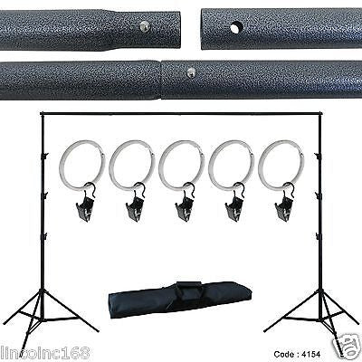 Photo Muslin Background Backdrop Support Stand Crossbar Kit Photography Studio