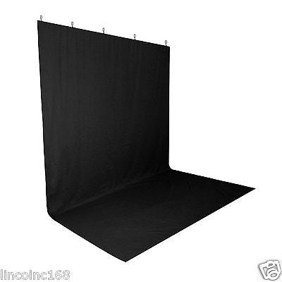 Black Screen Muslin Backdrop Muslin W/ Clamps For Photography Backdrop Stand Kit
