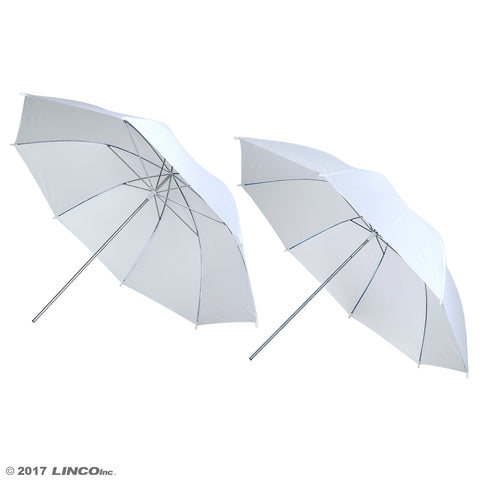 "2 x 32"" Photo Studio White Premium Soft Umbrella Reflector"