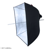 "24"" Photography Studio Pheno Square Silver Umbrella Reflector Softbox 3402-2"