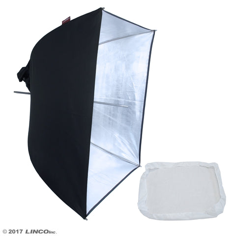 "24"" Photography Studio Pheno Square Silver Umbrella Reflector Softbox 3402-2S"