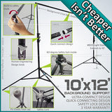 10.7 x 12.5 ft Photography Background Backdrop Stand Steel Support Studio Kit