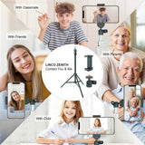 LINCO Lincostore Selfie Stick Family Video Call Business Multiplayer Conference Call, Cell Phone Stand for Apple & Androids Devices, C004B 1Set