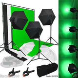 Photography Lighting Muslin Backdrop Stand Studio Light Kit New Linco Studio