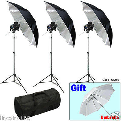 Photography Tungsten Spotlight Studio Video Spot light + Bag + stands CK408