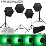 Linco Photo Studio Light Kit 4 Softbox Video Photography Lighting LK280