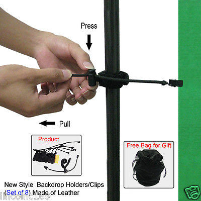 Background Support Muslin Holders Clamps for Green Screen Studio Backdrop Stand