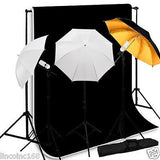 3 Bulbs Studio Continuous Lighting Kit Background Support Muslin Backdrop