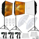 Linco Studio 3 Bulb Photo Studio Video Continuous Lighting Kit Softbox Light