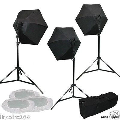 Photo Studio Lighting Softbox Kit Stand Bag Photography Light Kit Fast Ship