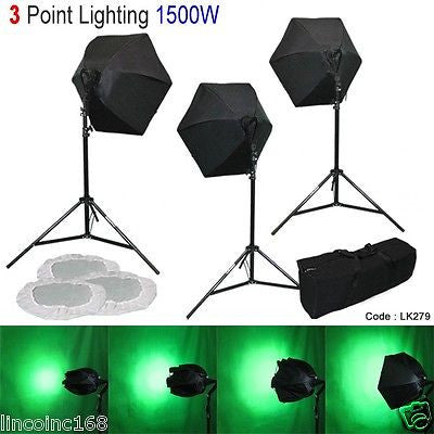 Linco 3 Point Softbox Photography Studio Video Light Lighting Kit Photo LK279