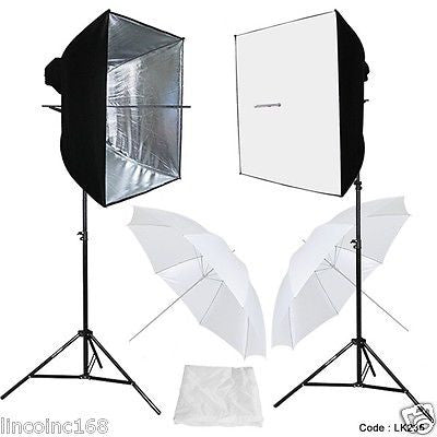 Photo Studio Video Continuous Lighting Kit Photography Softbox Light Stuido